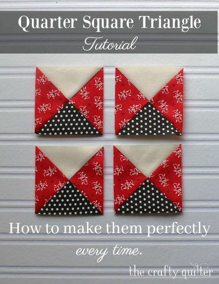 Quarter Square Triangle Tutorial @ The Crafty Quilter.