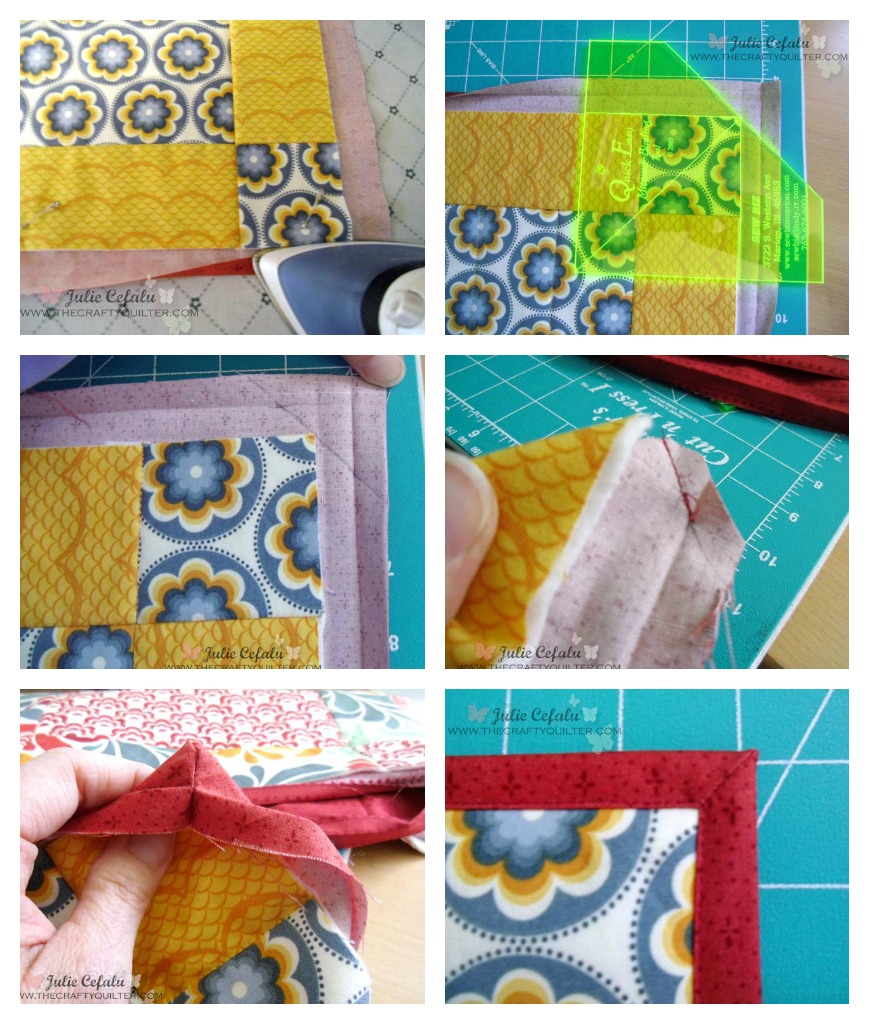 Quick and Easy Placemat Tutorial by Julie Cefalu @ The Crafty Quilter. A great way to make placemats using just 6 fat quarters!