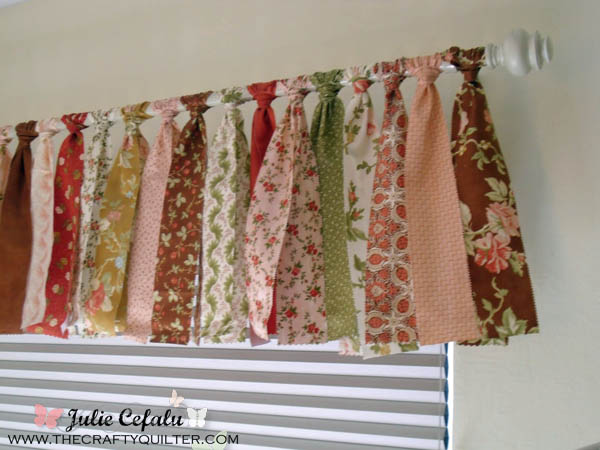 Jelly Roll Window Valance