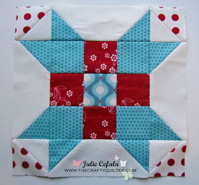 sugar block 1  at The Crafty Quilter