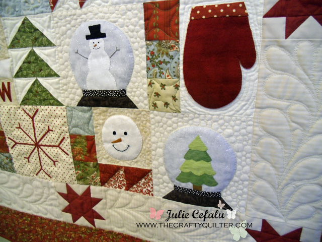 Welcome Winter Wallhanging at The Crafty Quilter