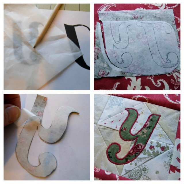 Joy Letter Applique Steps