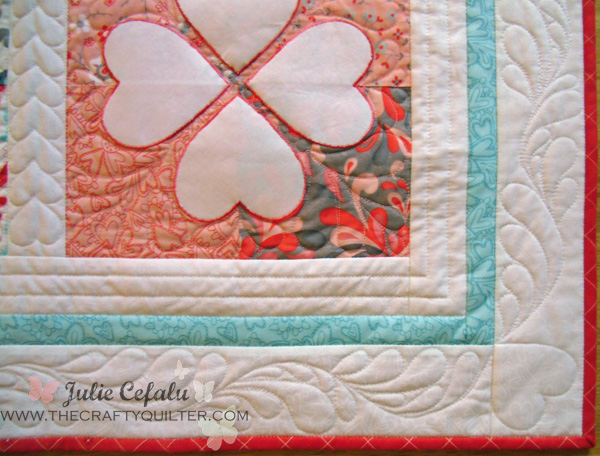 Flirtatious quilting details at The Crafty Quilter