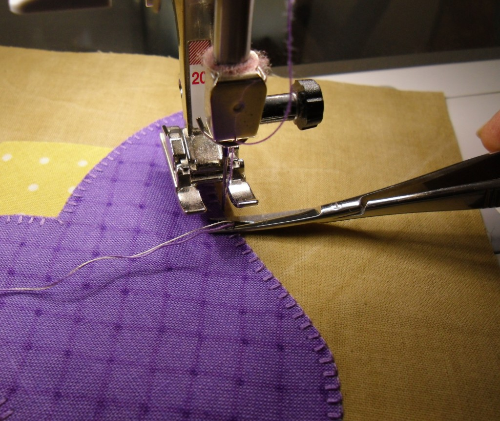 purple tulip snip threads