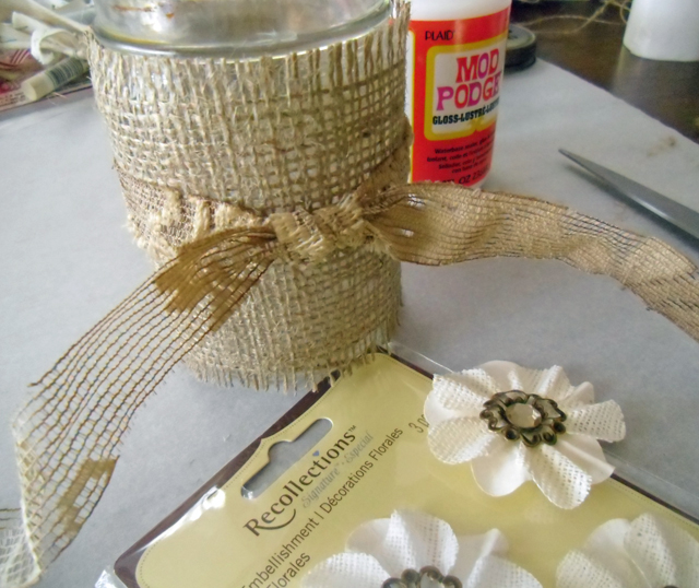 burlap decor supplies
