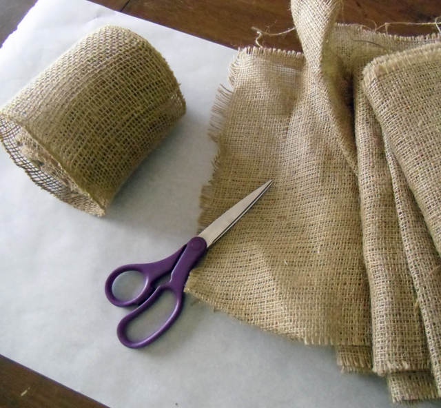 burlap supplies