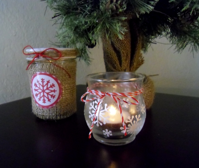 candles rustic duo