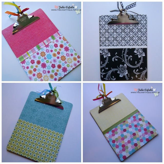 decorated clipboards