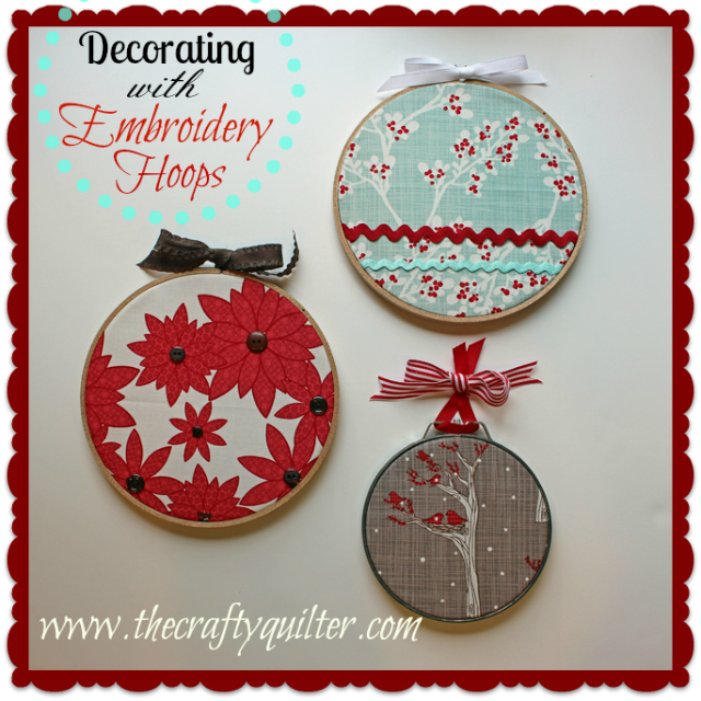 decorating with embroidry hoops - Embroidered Christmas Ornaments