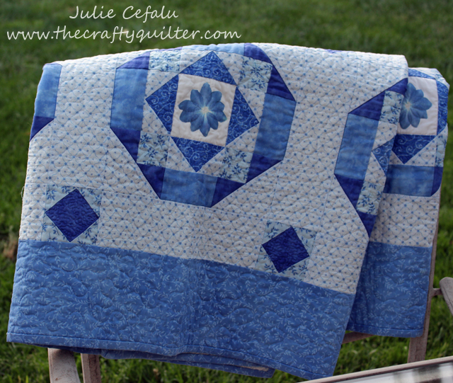two color quilt