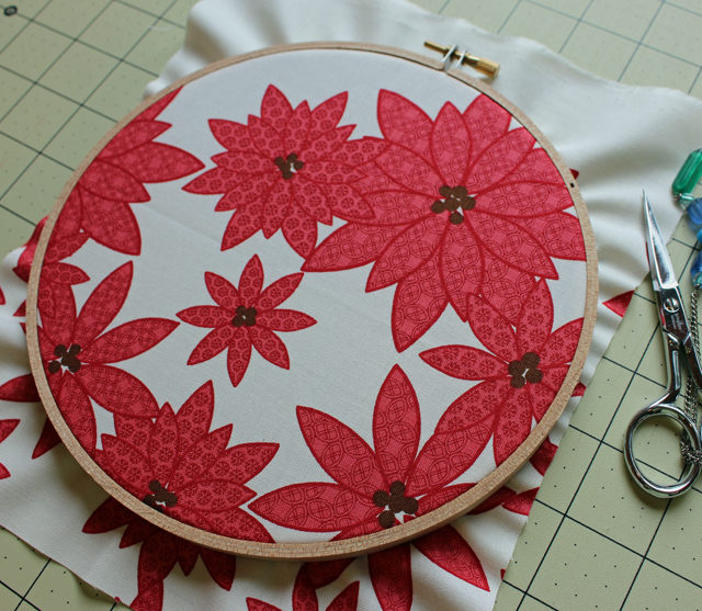embroidery hoop placement