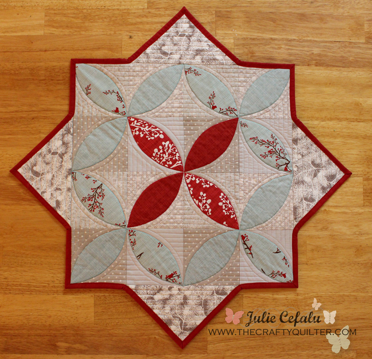 Winter Seeds Table Topper Tutorial @ The Crafty Quilter