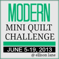 modern mini quilt 2013 button