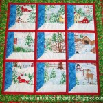 Christmas Windows Wall Hanging by Sunshine in the Attic