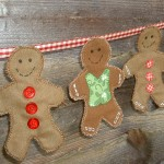 Gingerbread Bunting by The Patchsmith