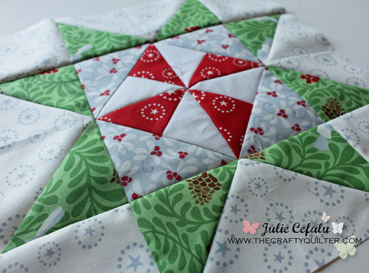 Christmas Pinwheel Star Block @ The Crafty Quilter