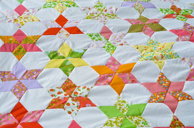 star flower quilt along