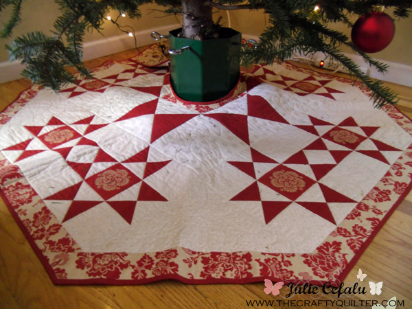 christmas tree skirt by julie cefalu the crafty quilter