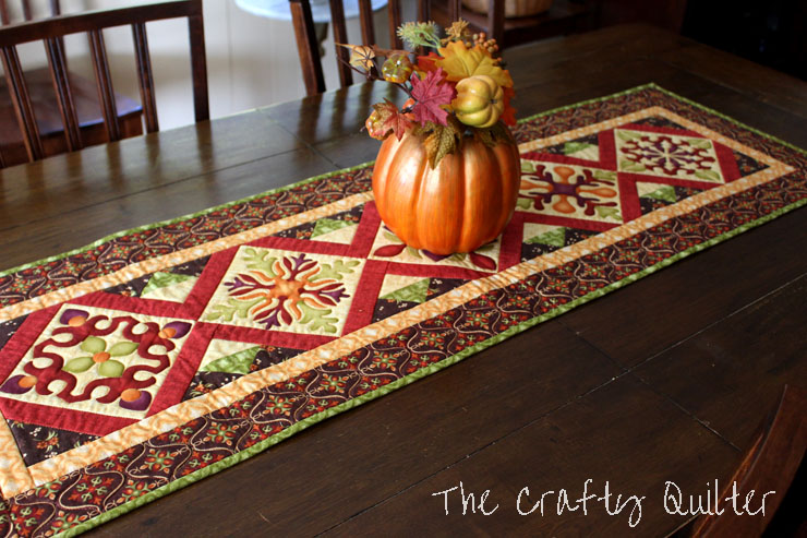 Fall Table Runner by Julie Cefalu, The Crafty Quilter