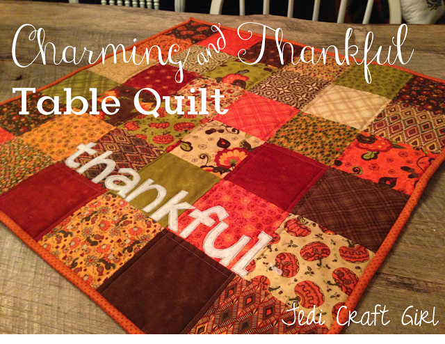 The Sunday,   pack Thankful charm christmas runner table Quilter Sew Crafty  11.17.2013