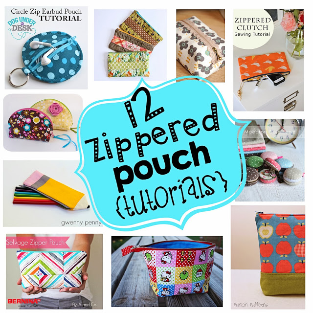 12 Zippered Pouch Tutorials @ Inspiring Creations