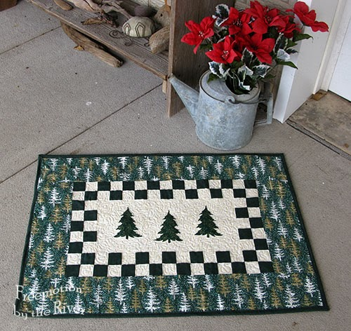 Evergreen Tree Table Runner @ Free Motion by the River