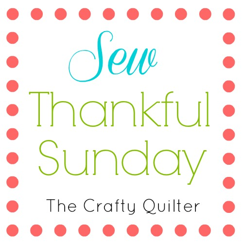 Sew Thankful Sunday, July 2018 at The Crafty Quilter. Lots of ideas to inspire your creativity for the Summer time!