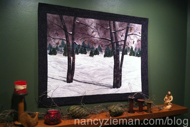 Designing a Winter Landscape Quilt by Nancy Zieman