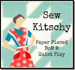 Sew Kitschy Paper Pieced BOM @ Quiet Play