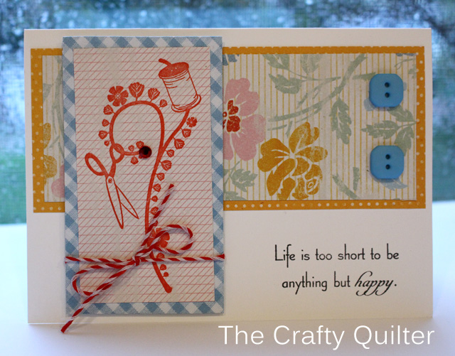 Life is Short Card @ The Crafty Quilter
