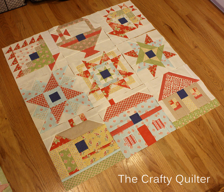 FQS 2013 BOM Blocks 1 thru 9 @ The Crafty Quilter