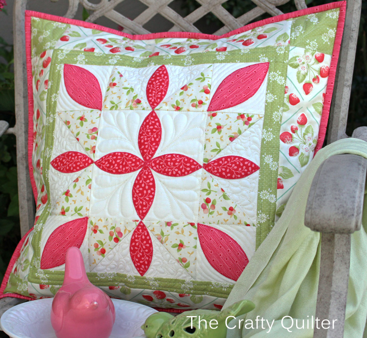 Starflower Pillow made by Julie Cefalu; from the book, Playful Petals