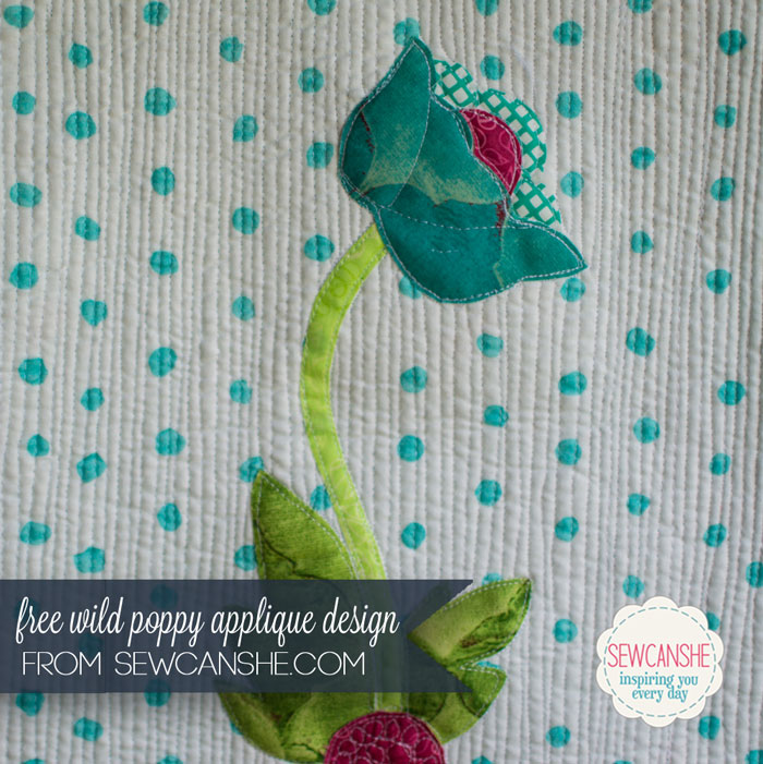 flowers and poppies applique