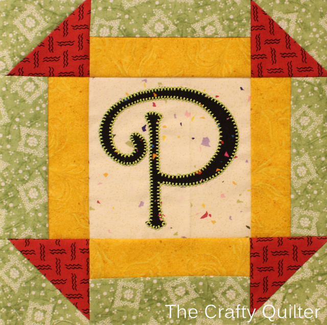 Letter P of TQS BOM, made by Julie Cefalu