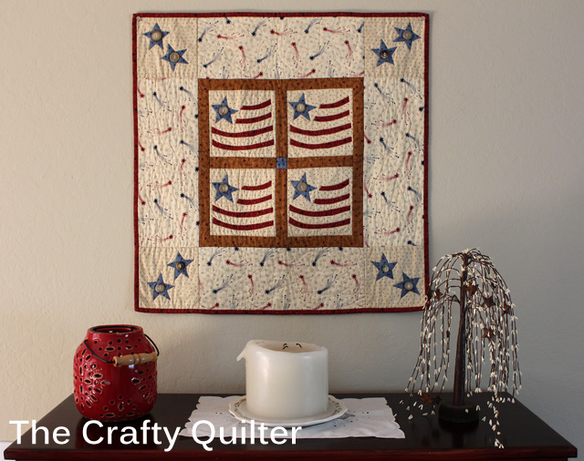 Americana Flag Wall Hanging @ The Crafty Quilter