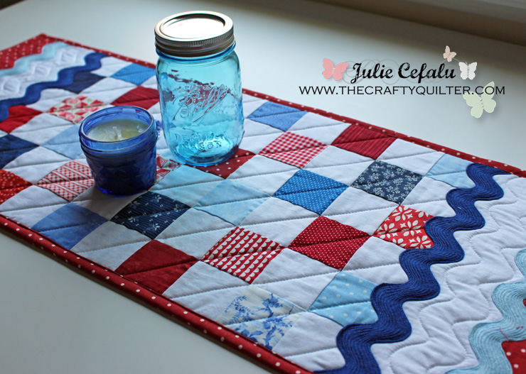 Patriotic table runner @ The Crafty Quilter