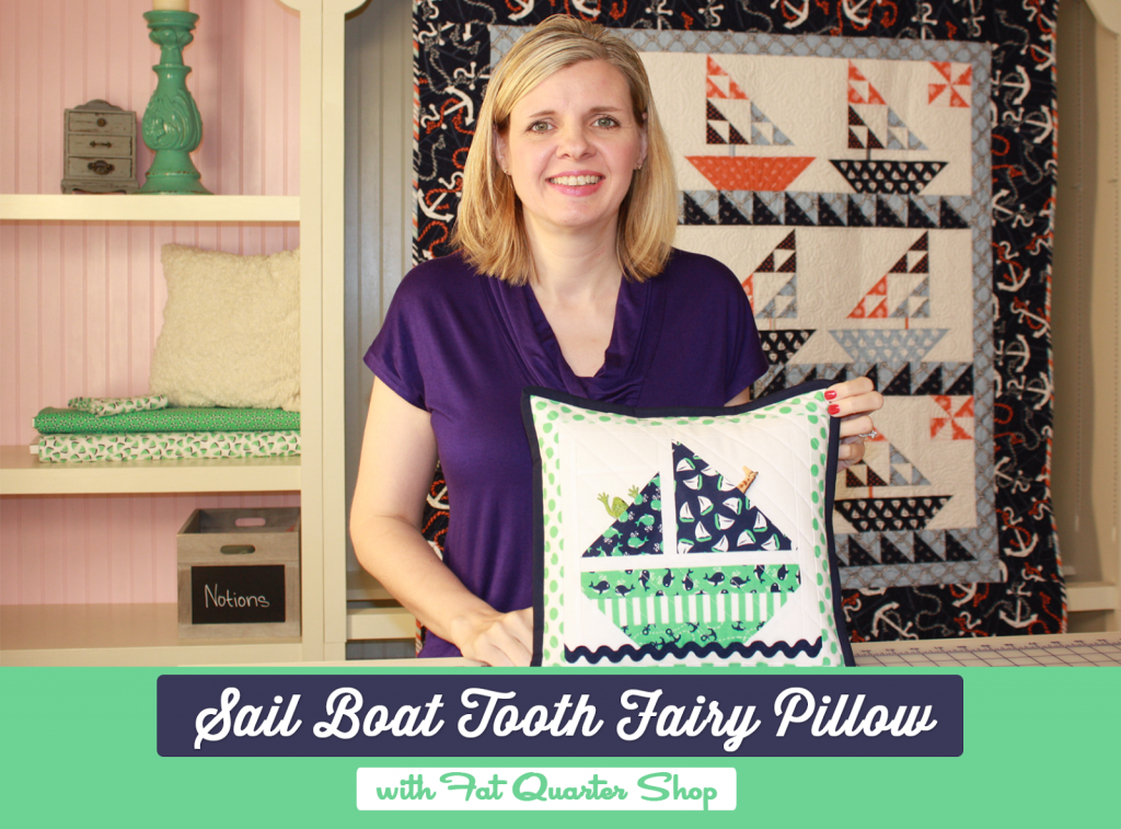 sailboat toothfairy pillow