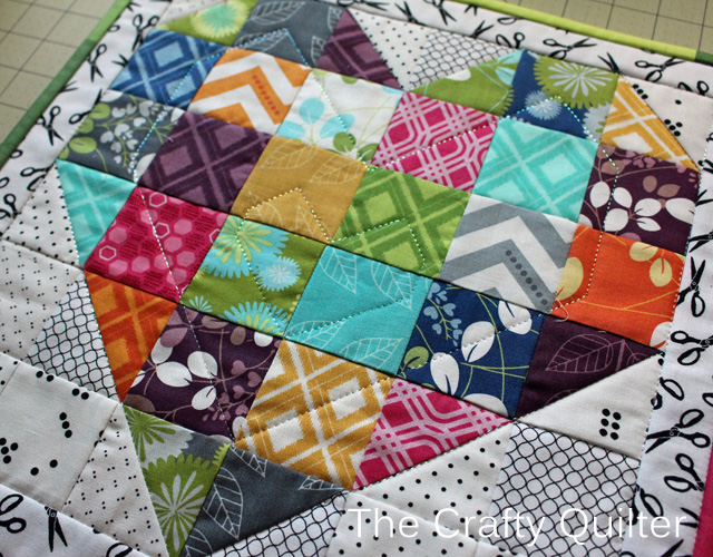 Color My Heart Quilt by The Crafty Quilter