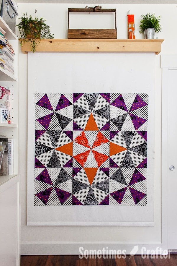 Halloween Medallion Quilt-32