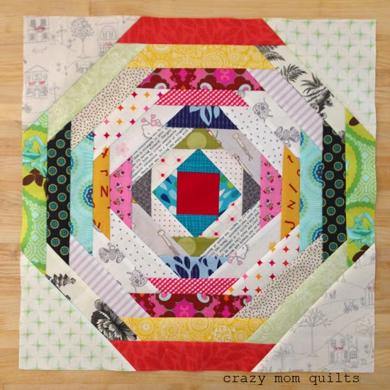 Paperless Pineapple Block from Crazy Mom Quilts
