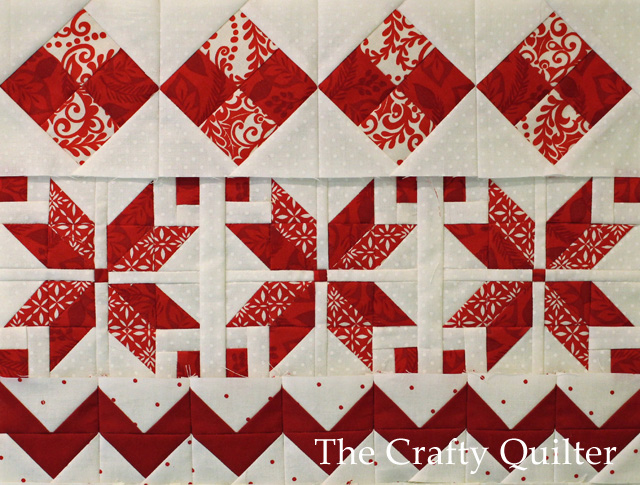 Nordic Mini QAL, Row1,2 and 3 @ The Crafty Quilter