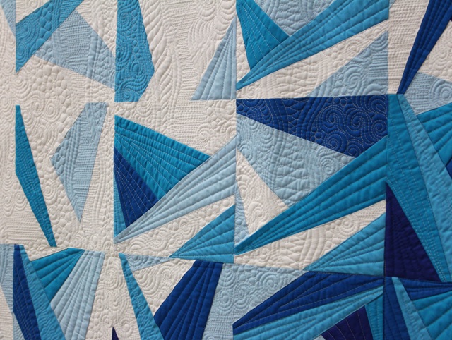 "Quilting Detail of ""Icy Waters"" by Amy Garro"
