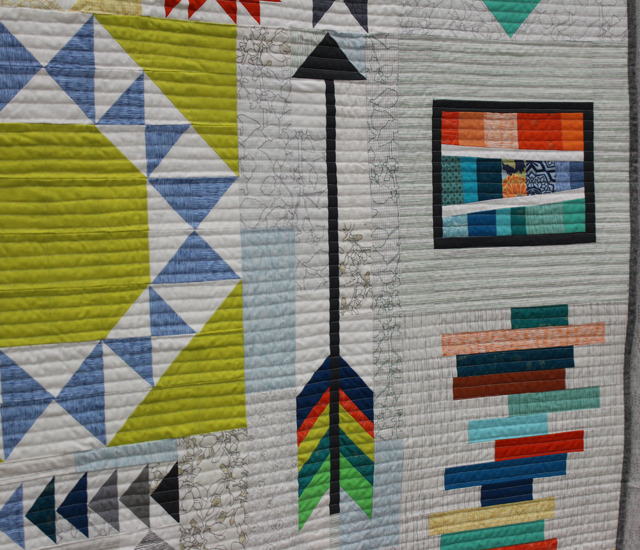 "Quilting detail of ""Long Island Modern Sampler"" by Kim Soper"