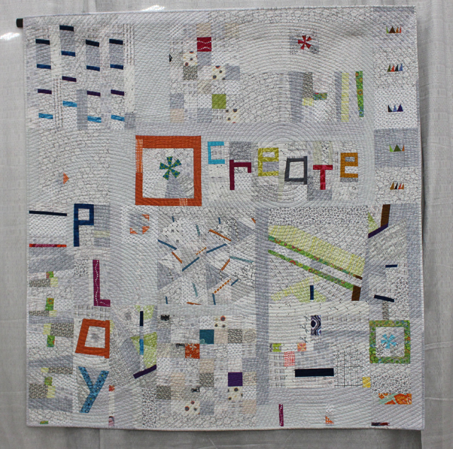 "1st Place, Group or Bee Quilts:  ""Playing with Little Bits"""