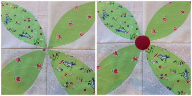 Machine Applique Lesson, Spring Petals QAL @ The Crafty Quilter