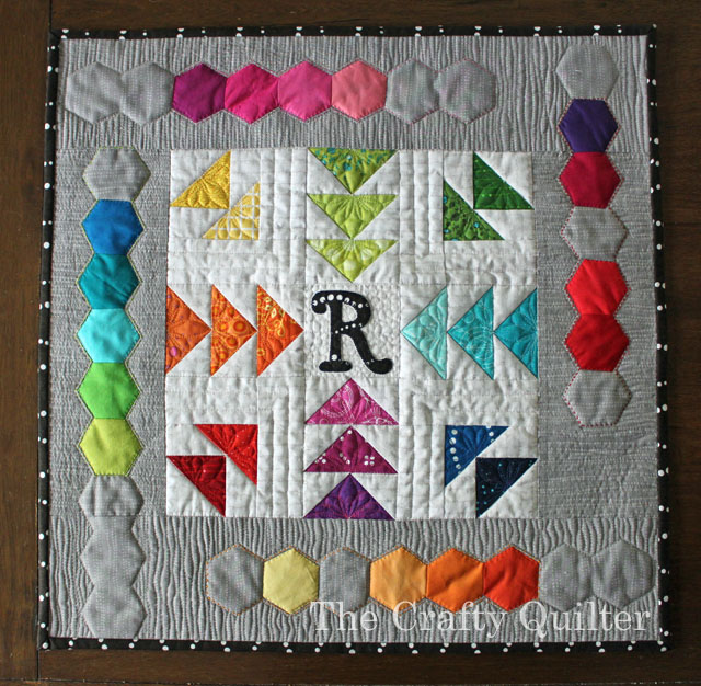Rainbow Mini Quilt made by Julie Cefalu