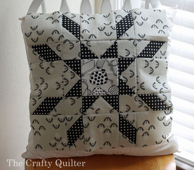 Star Crossed pillow by Julie Cefalu @ The Crafty Quilter