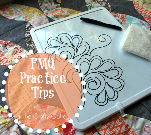 Free Motion Quilting Practice Tips @ The Crafty Quilter