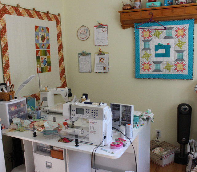 Messy & Disorganized Sewing Room