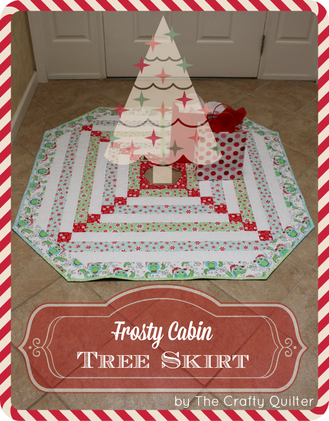 Frosty Cabin tree Skirt from The Crafty Quilter